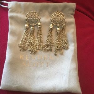 Kendra Scott Gold Tassel Earrings
